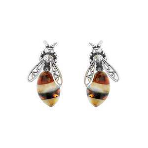 Designer Multi Amber Bee Earrings