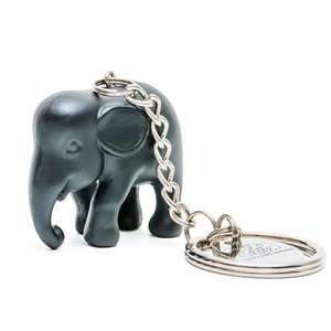 Elephant Parade Key Ring Black ElElephant Paradehant in Silicone M1