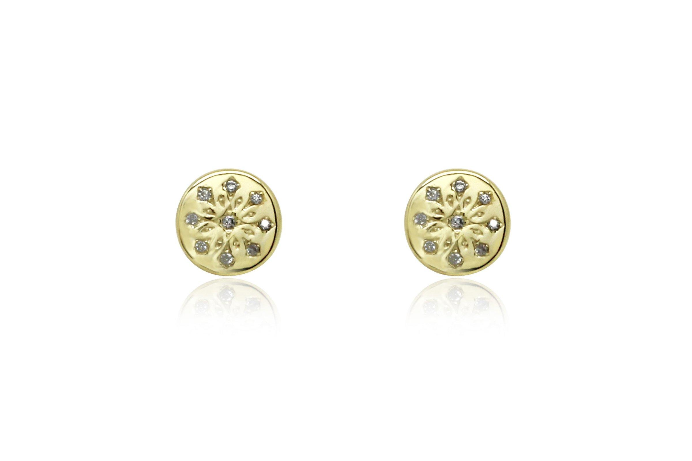 Image#1 Arnes Gold Stud Earrings