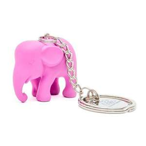EP Key Ring Pink Elephant in Silicone M1