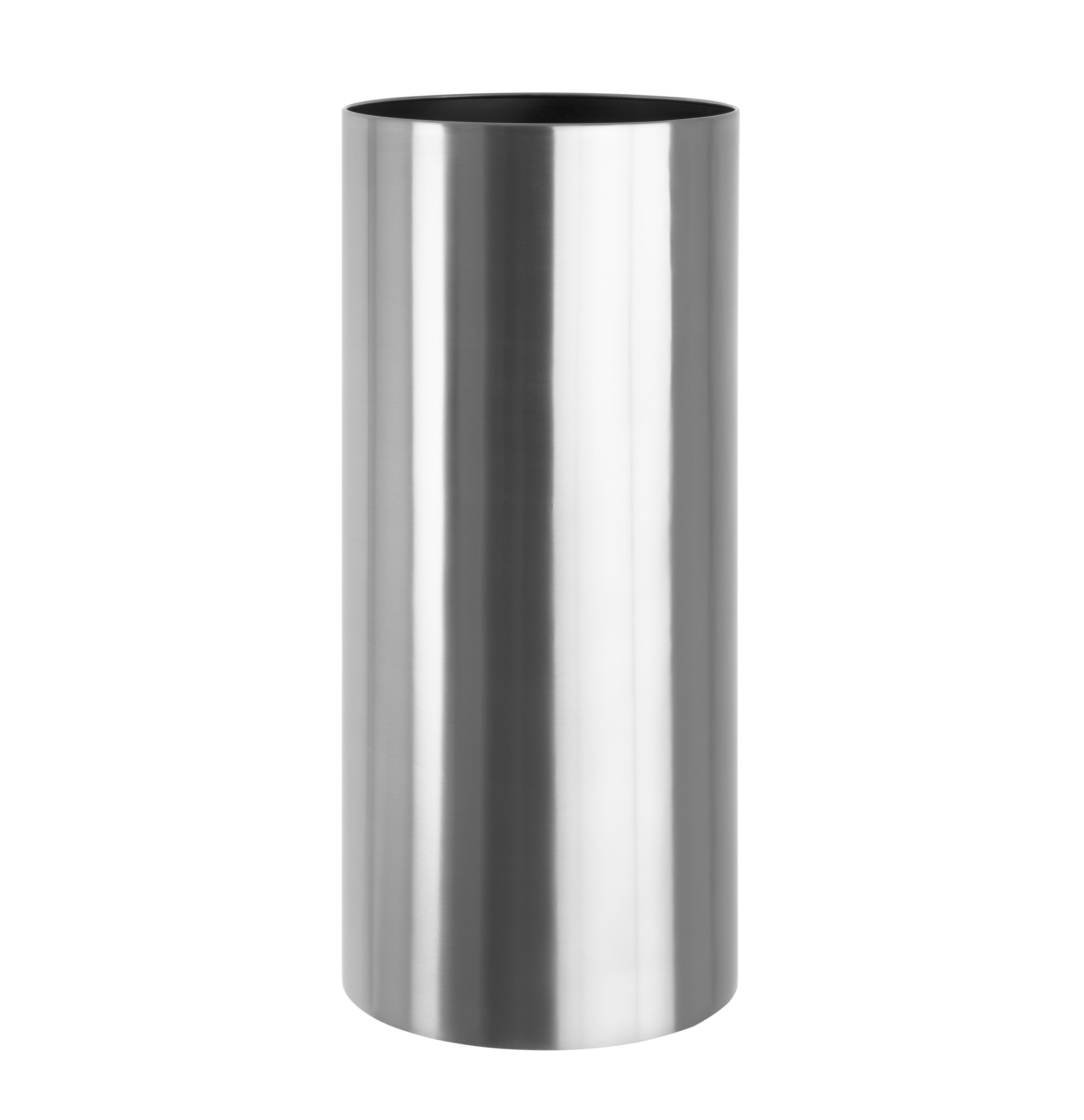 cylinder_circular_planter_stainless_steel_metal_garden_outdoor_brushed_modern_uk_kent