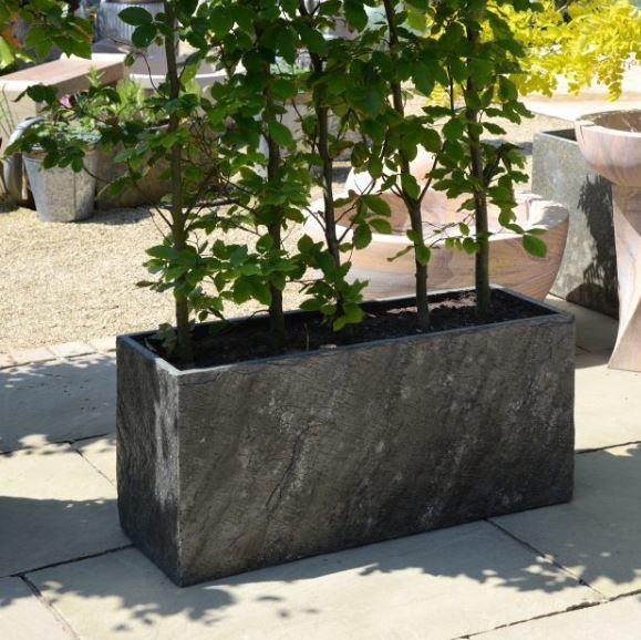 Slate_trough_planter_garden_modern_outdoor_natural_stone