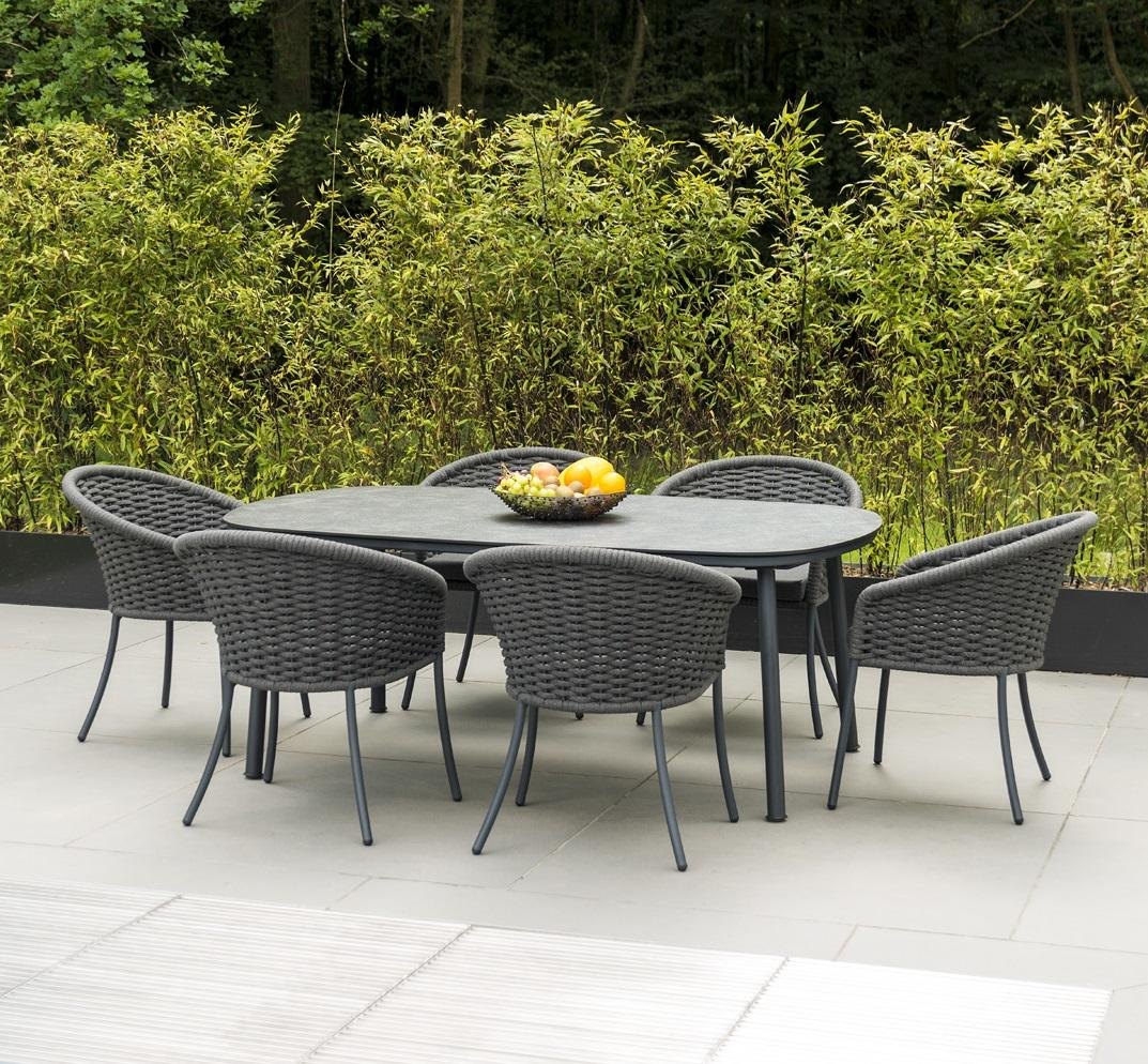 Modern Garden Dining Sets with Weatherproof Rope Chairs