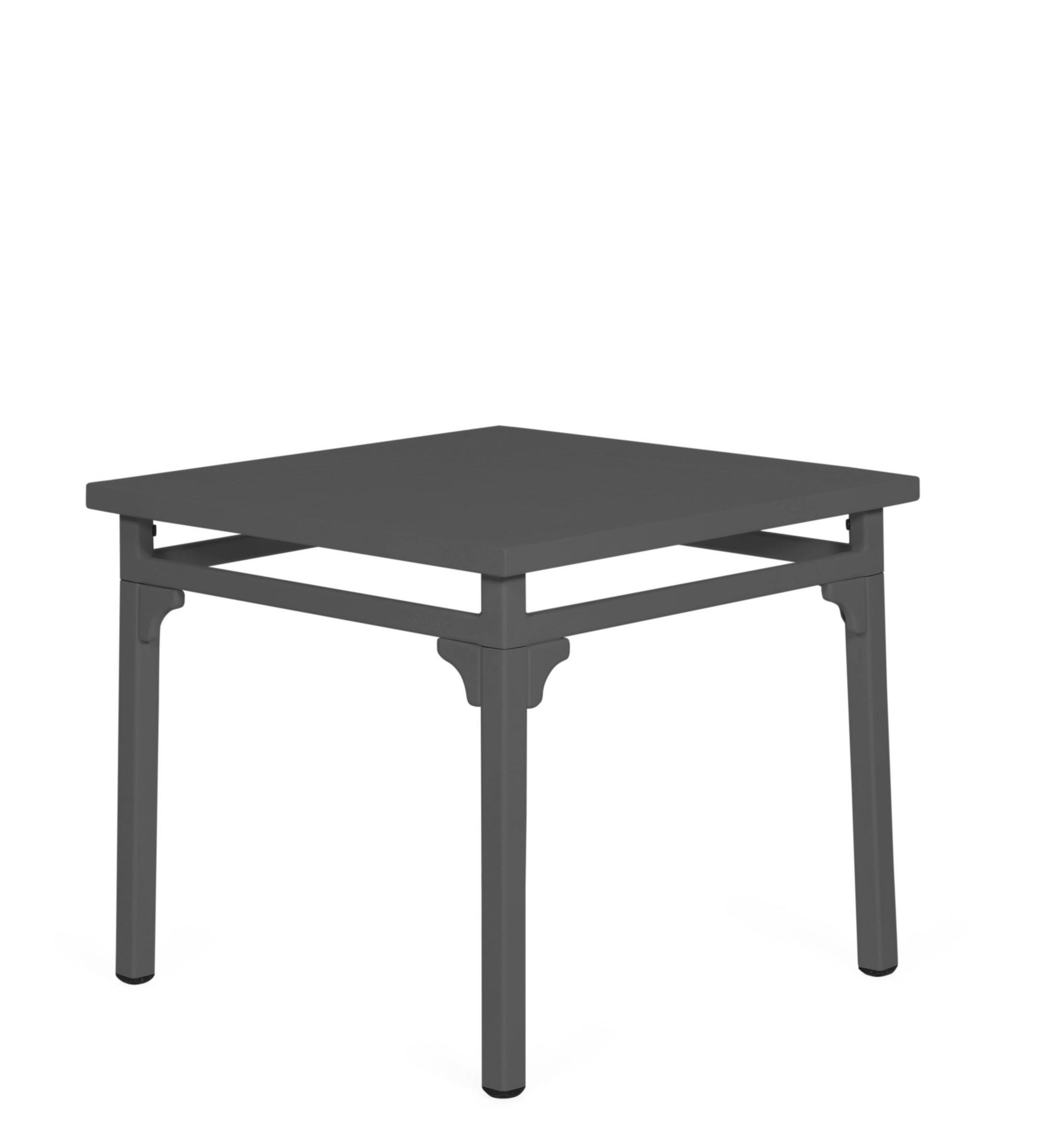 grey aluminium metal square garden dining patio table