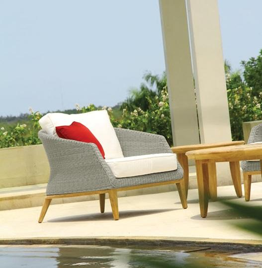 rattan garden armchairs in platinum weatherproof wicker weave