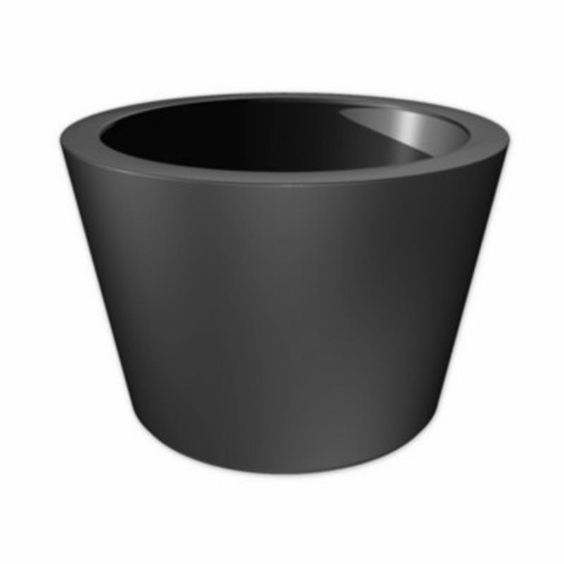 matt grey fibrgelass garden planter