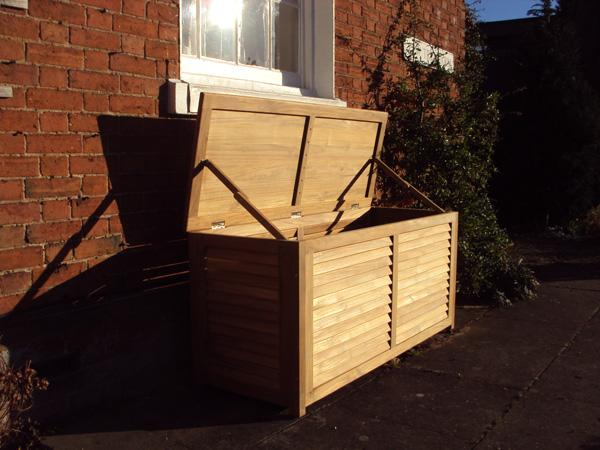 teak garden cushion box or storage box medium