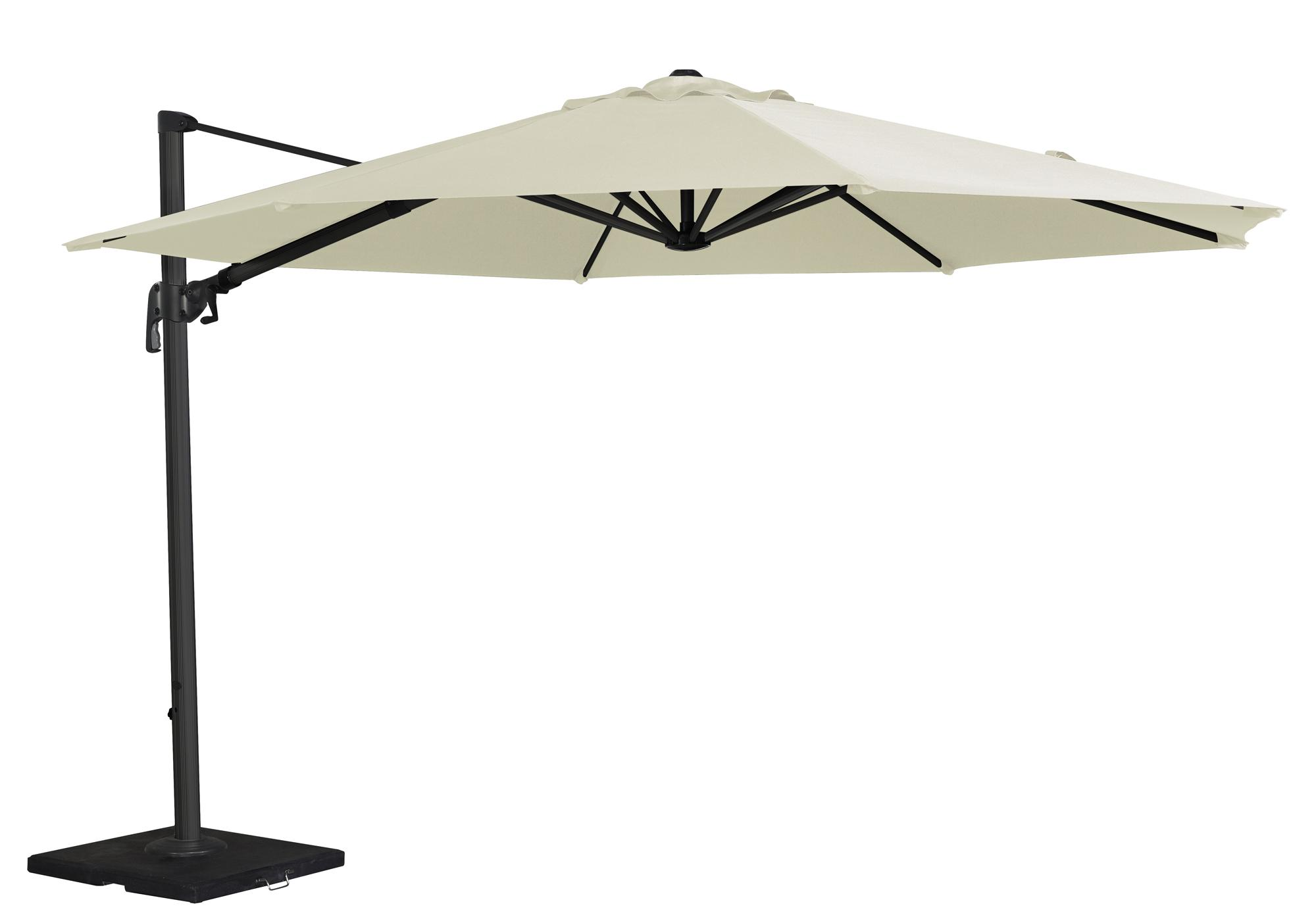 cantilever parasol garden cream natural ecru colourway 3.5m aluminium frame