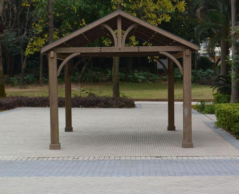 fsc cedar wood high quality garden gazebo