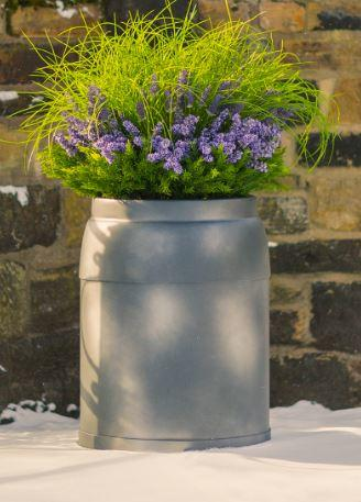 fibreglass planter in milkchurn style design contemporary