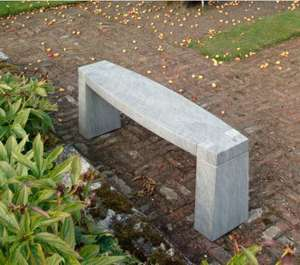 sandstone garden bench modern grey kent uk high quality stone outdoor