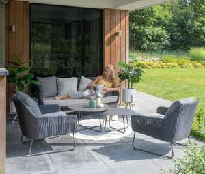 modern rattan garden lounge furniture set