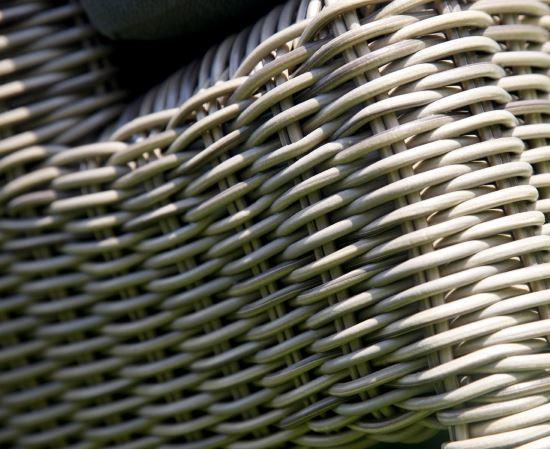 rattan weave daybed detail arm