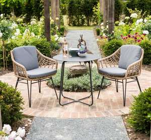 rope weave garden dining chairs with aluminium bistro table