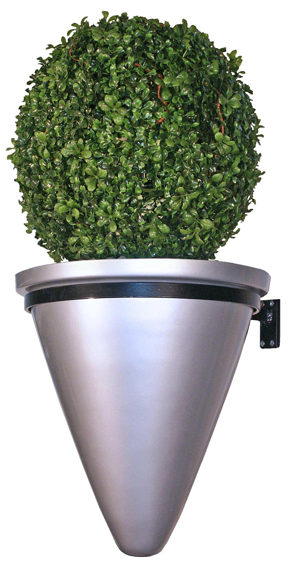 fibreglass_planter_wall_moounted_conical_planter_modern_contemporary_garden_outdoor_weatherproof_uk_kent_bespoke