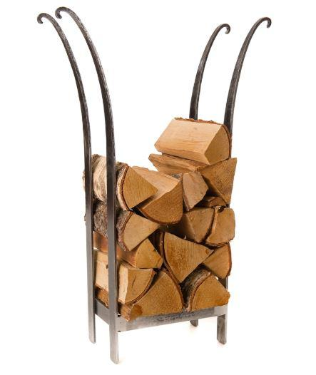 log basket steel flared log stack cut out