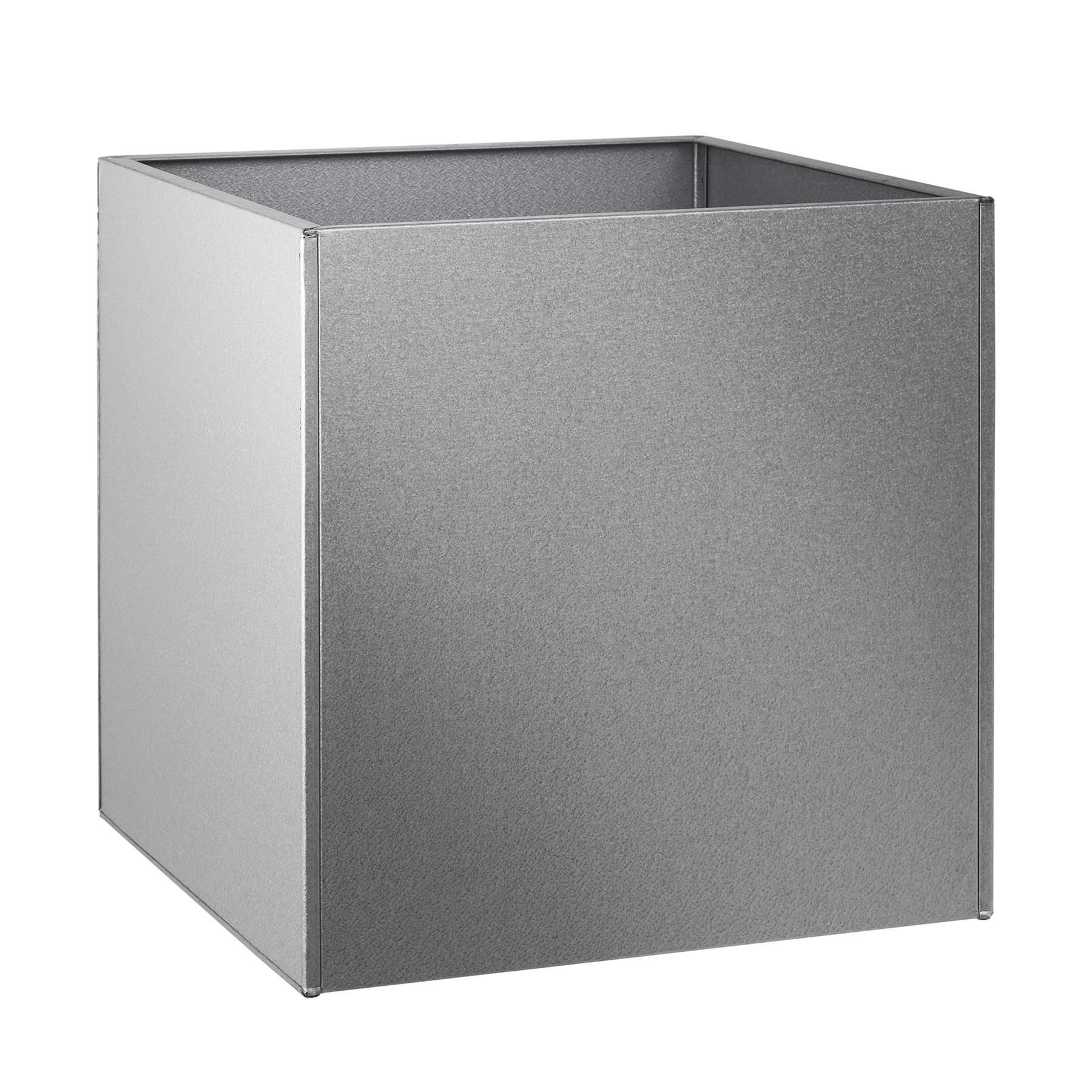 metal garden planter square or cubed in aluzinc