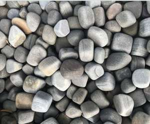 shark grey natural sandstone garden pebbles