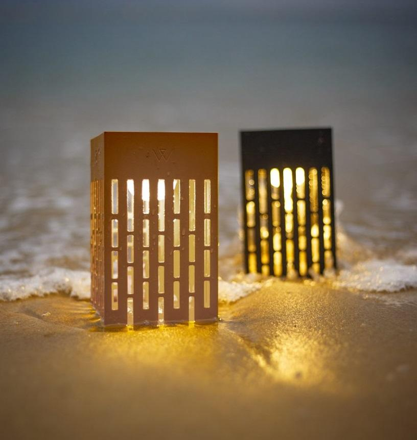 solar garden lights modern taupe and grey box lights weatherproof in sea