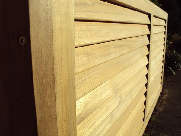 teak garden storage box ventilated slats