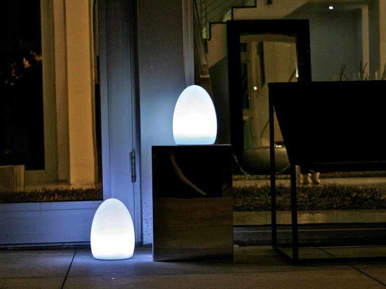 fibreglass garden egg light weatherproof for outdoor use