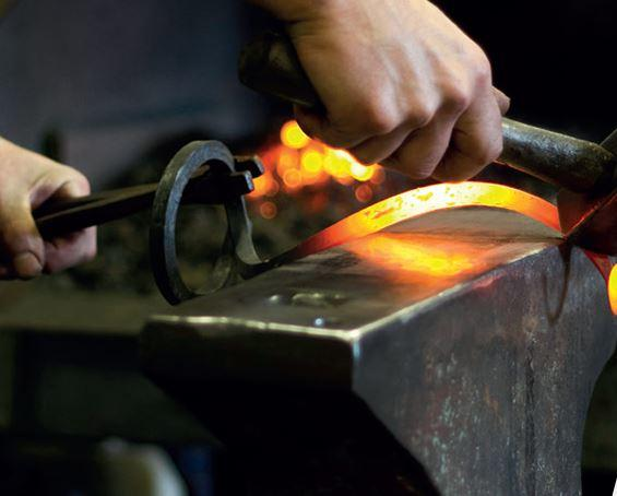 traditional hand forged blacksmith techniques