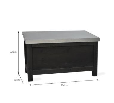 dimensions of garden storage box black