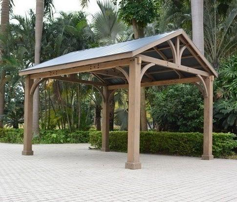 cedar wood garden gazebo large