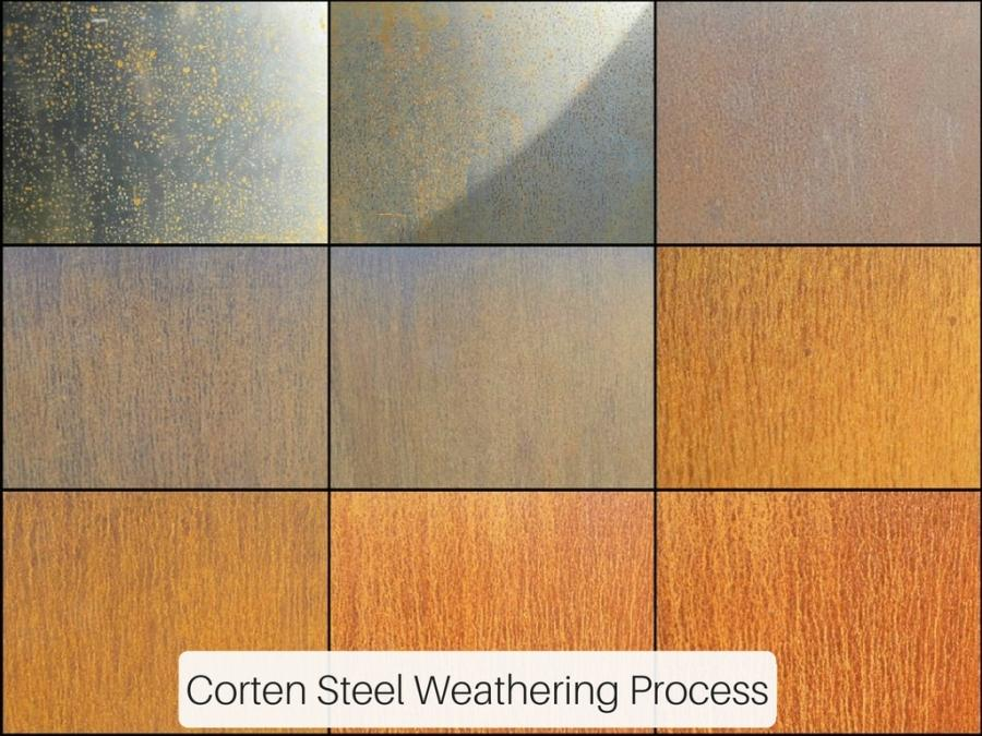 corten steel weathering process