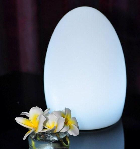 fibreglass waterproof outdoor garden egg lighting