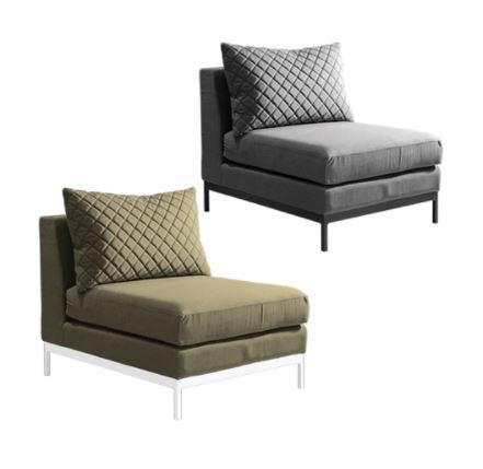 fabric middle sofa unit modular