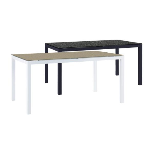 cut outs 150 x 90 cm 6 seater aluminium rectangle garden dining table