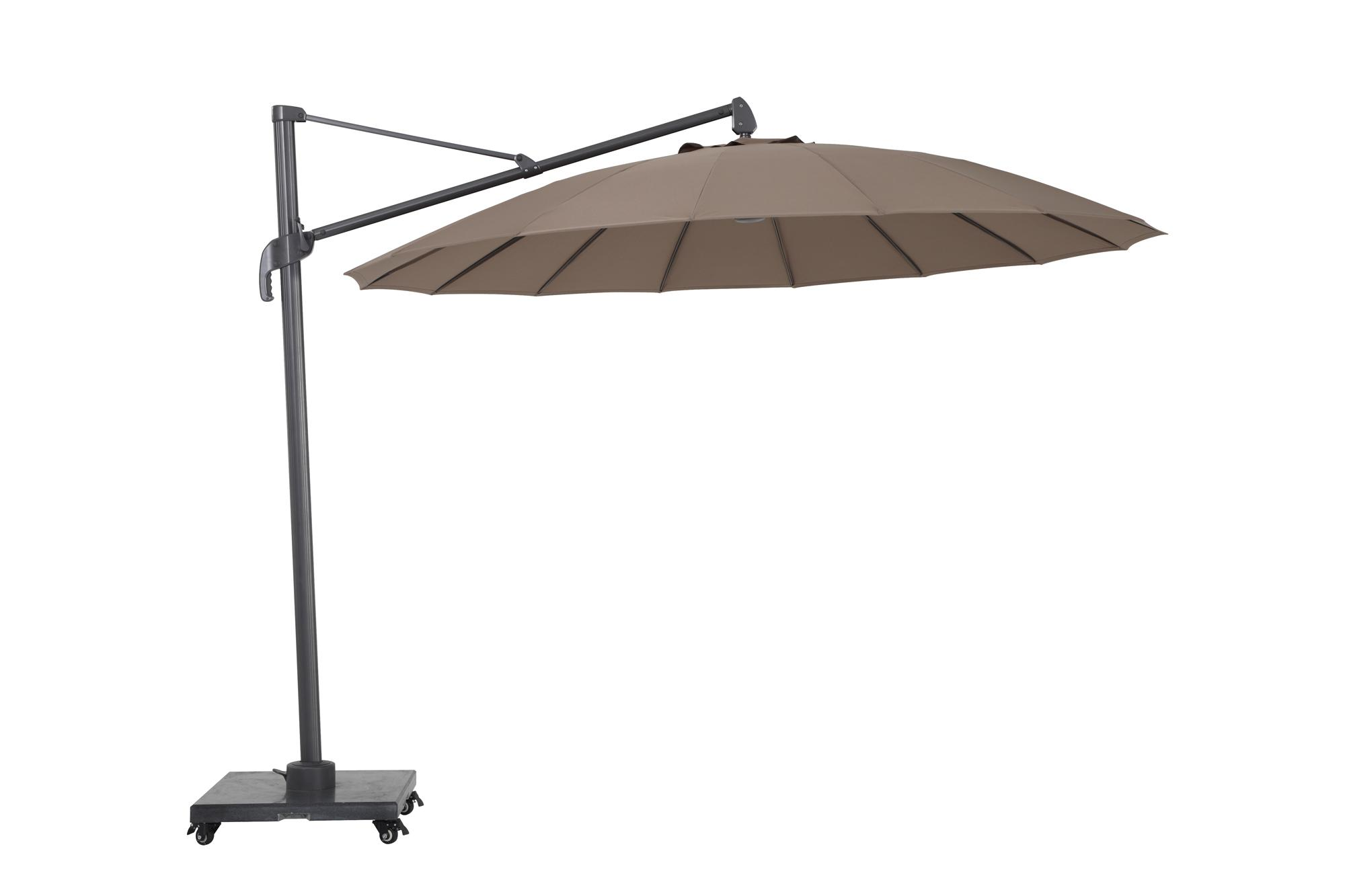 cantilever parasol taupe for the garden
