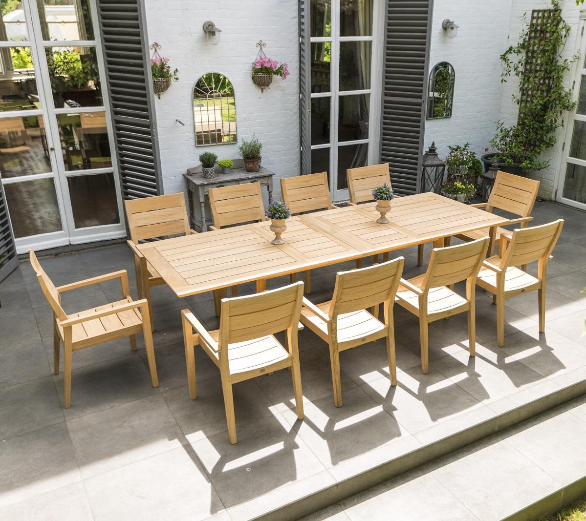 wooden_garden_dining_furniture_10_seater_patio_table_chairs_roble_hardwood_kent_uk