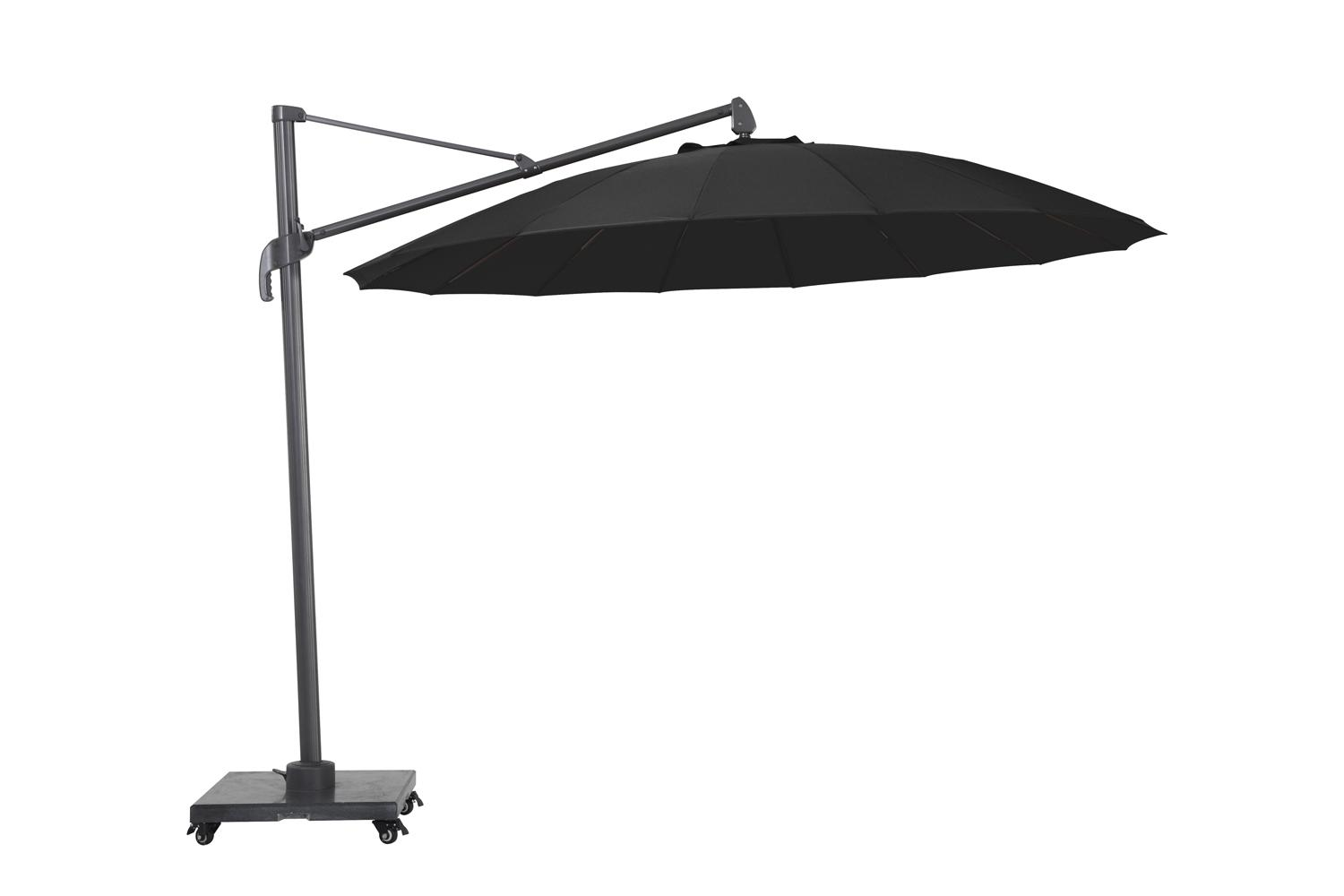 cantilever parasol for the garden charcoal