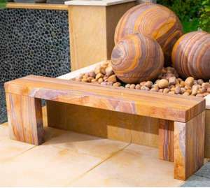 rainbow natural sandstone garden bench for outdoor use