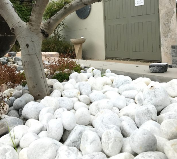 pebbles stones white garden quartzite uk kent