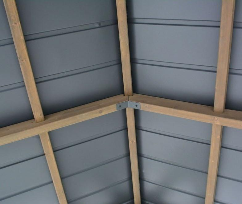 garden gazebo aluminium roof panels grey
