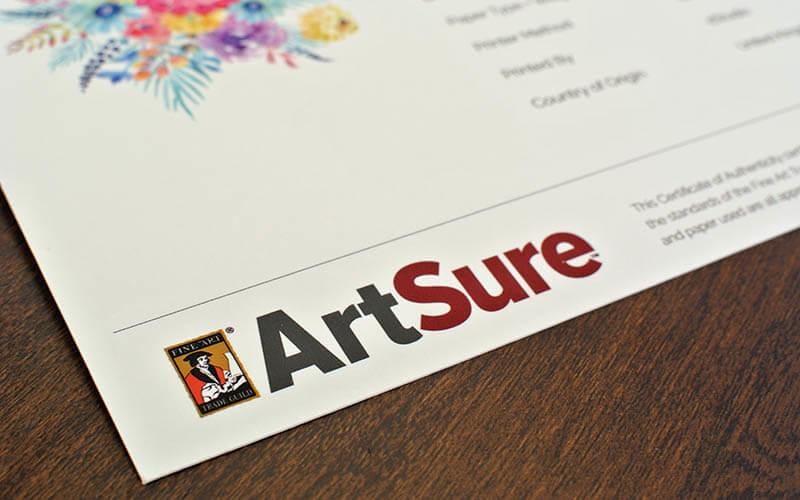 Art Sure Fine Art Trade Guild logo.