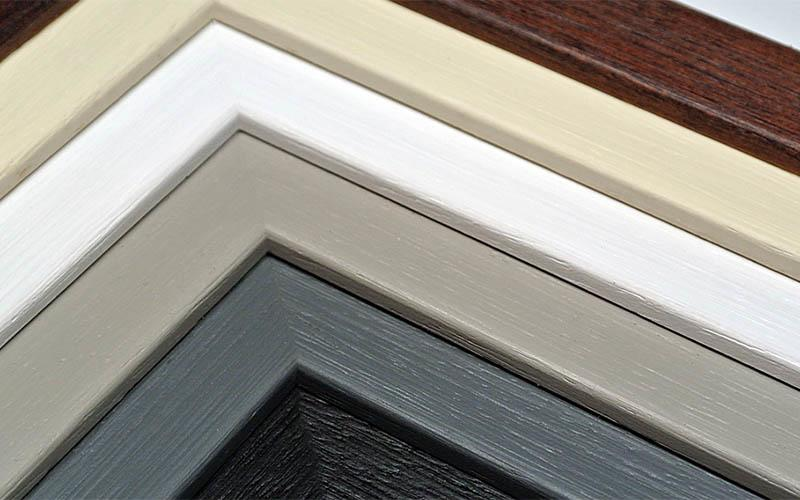 Examples of colours of picture frames.