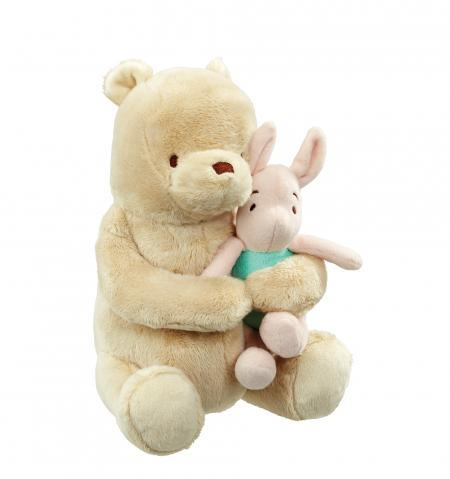 Disney Winnie The Pooh Classic Wind Up Soft Toy Baby Gift Front