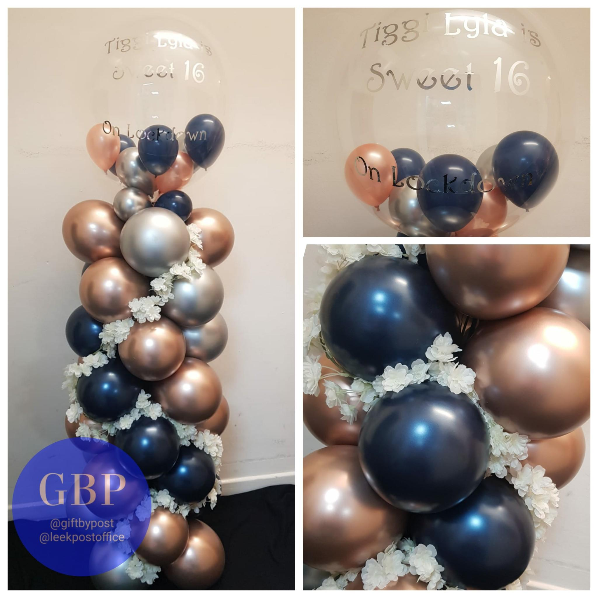Balloon Column, blue grey