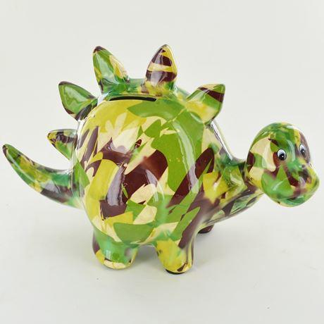 zorc the dinosaur money box green