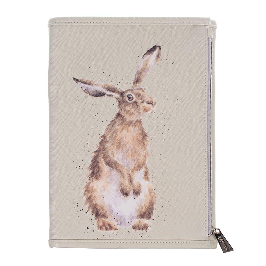 Wrendale Notebook Wallet Front Hare