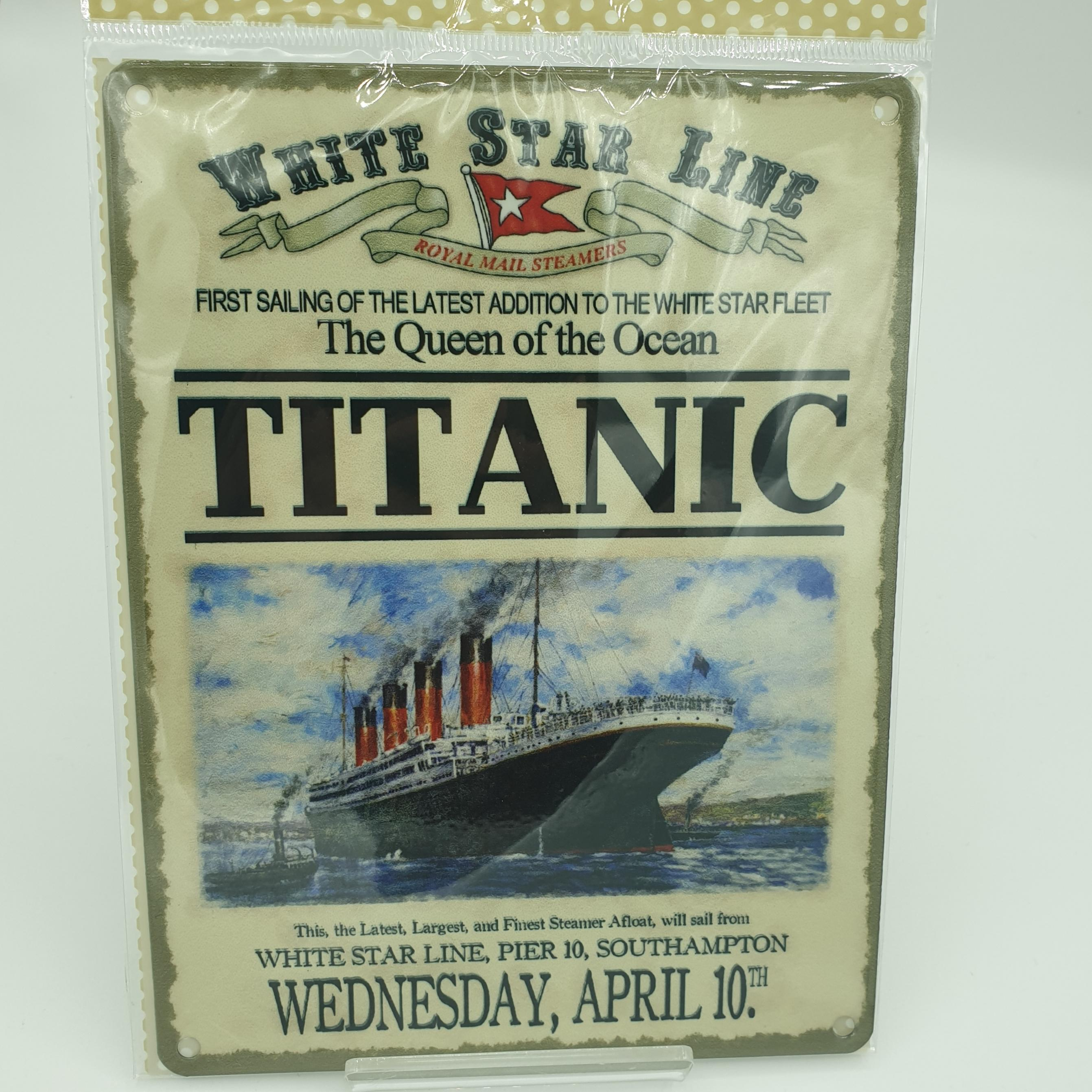 metal wall sign titanic
