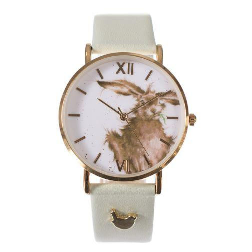 Wrendale Watch Green Leather Hare