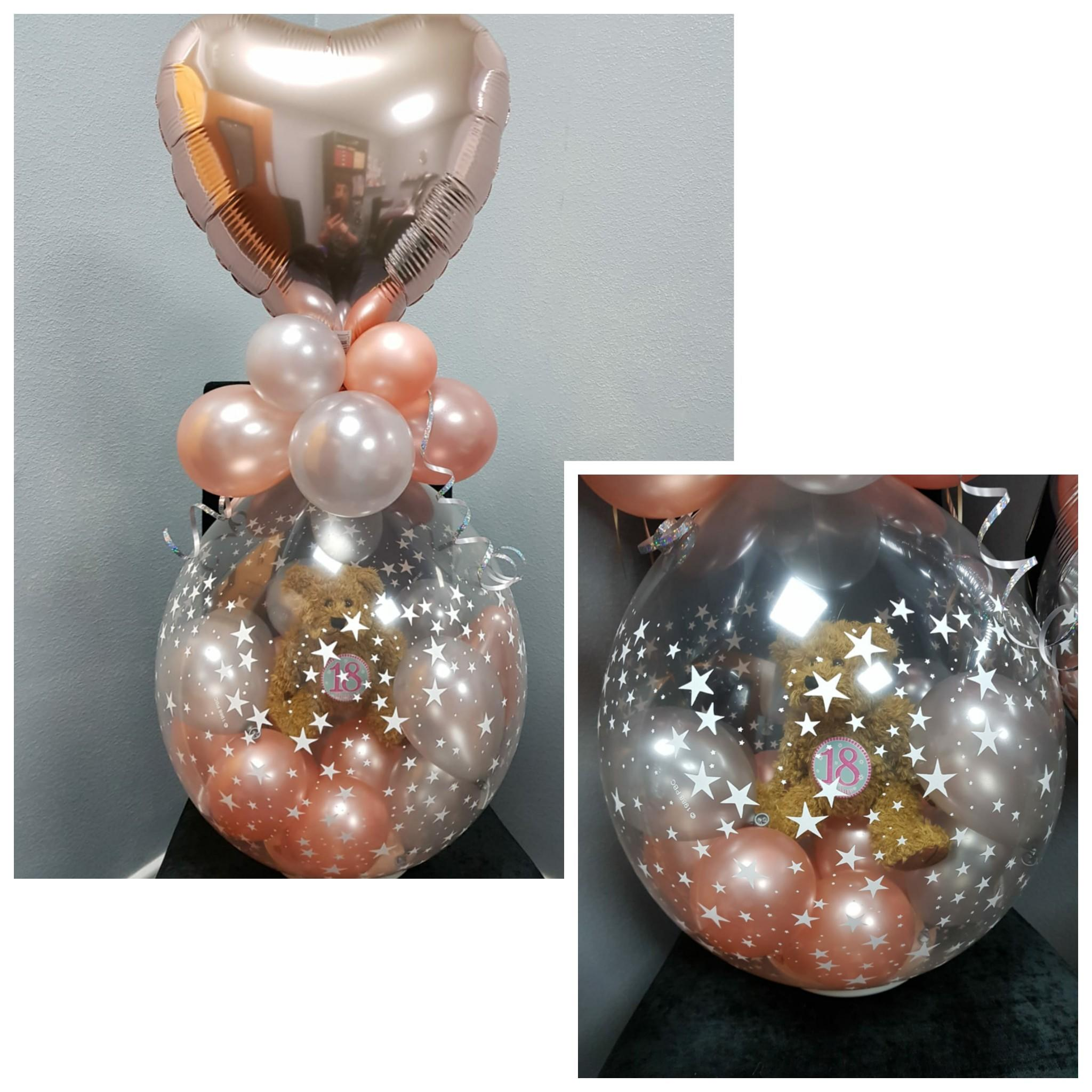 Teddy in a Balloon, Rose Gold