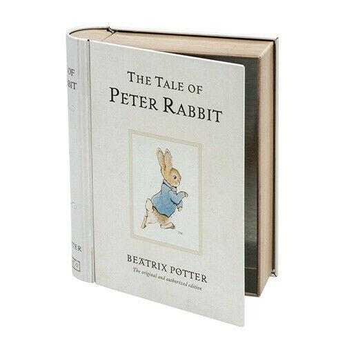 beatrix potter peter rabbit storage tin book
