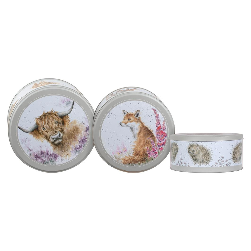 Set of 3 cake tins front