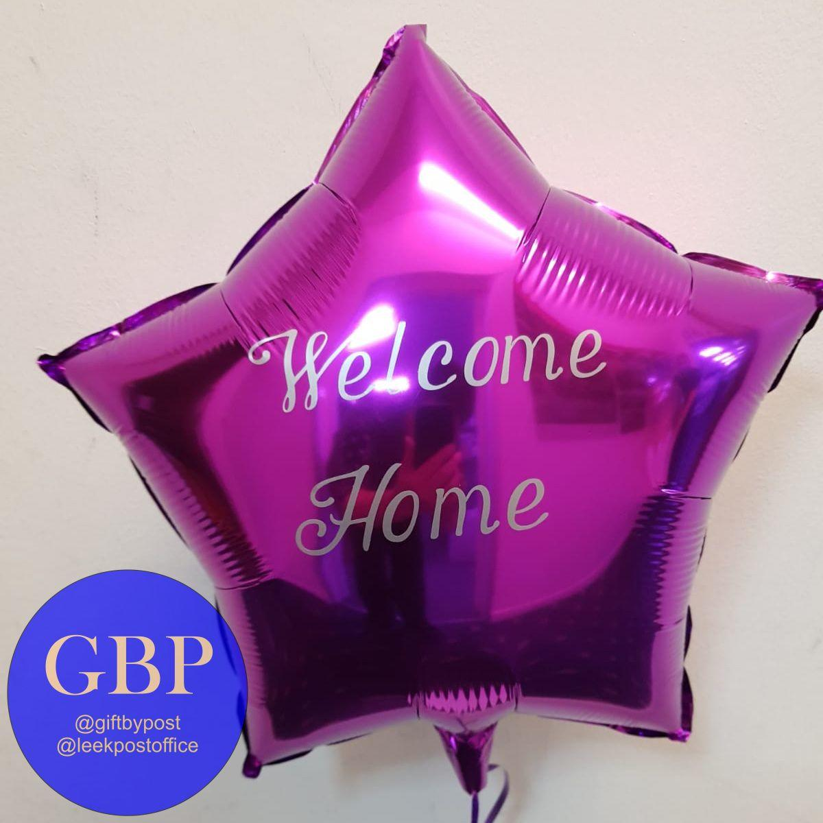 Purple Star Foil Helium Balloon Inflated